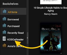 Add EPUB books to Kobo eReader with Adobe Digital Editions