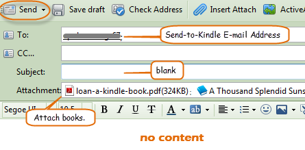 send to Kindle - compose