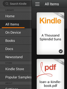 "received books through ""send to Kindle"" email address"