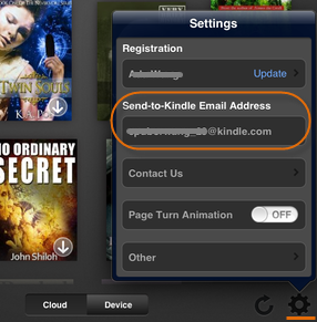 Transfer books to Kindle iPad - send to Kindle email address