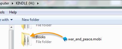 copy books to Kindle Fire HD