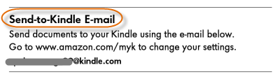 Kindle Paperwhite-send to Kindle email address