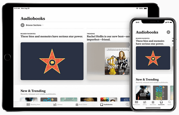 listen to audible with apple books