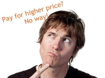 Pay for higher price