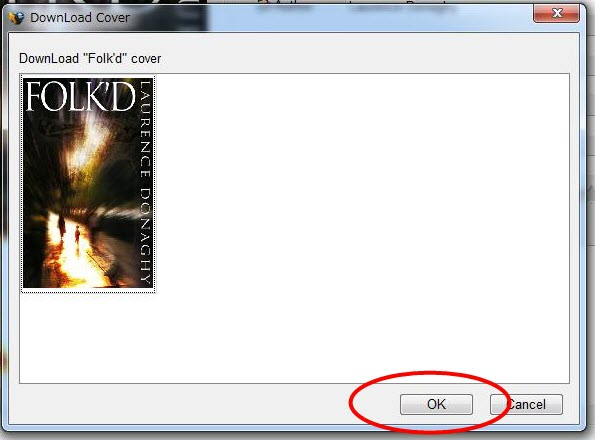 "click the ""ok"" button to download cover"