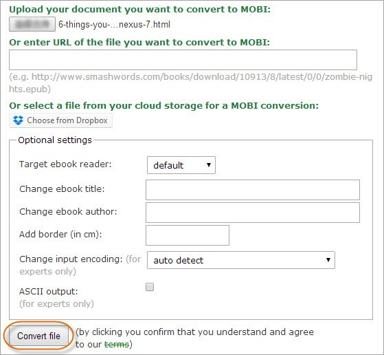 Three Methods to Convert HTML to MOBI for Kindle