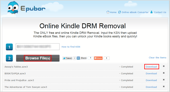remove drm from azw3 files