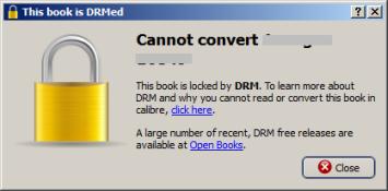 convert PDB to PDF - step1 - DRM detected