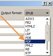 convert PDB to PDF - step2 - set output format