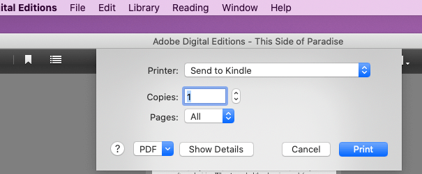 How to Print Adobe Digital Editions Books
