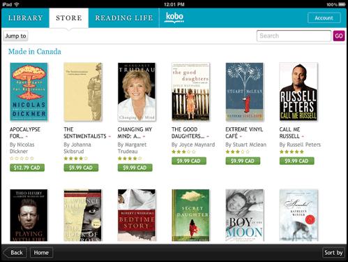 purchase kobo books on ipad