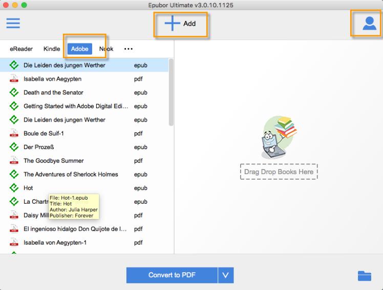 remove Adobe epub DRM protection
