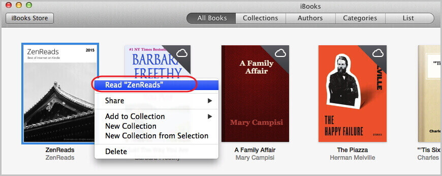 read books with iBooks