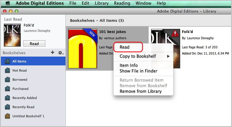 read kindle books with ade mac