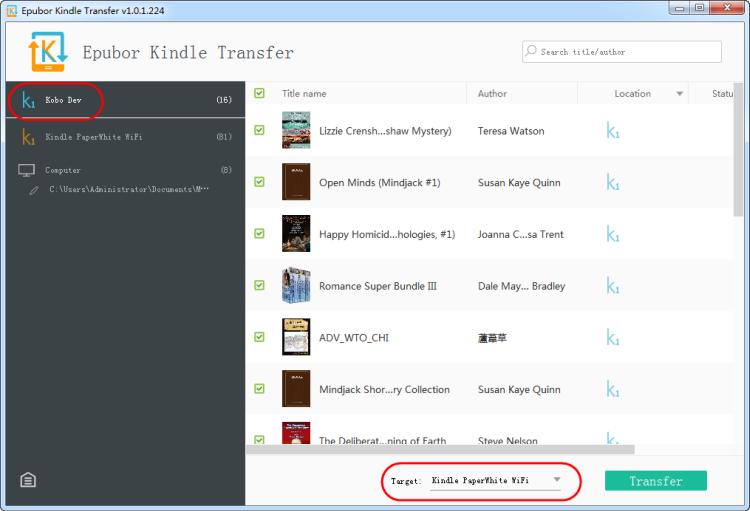 read Kobo books on Kindle with Kindle Transfer