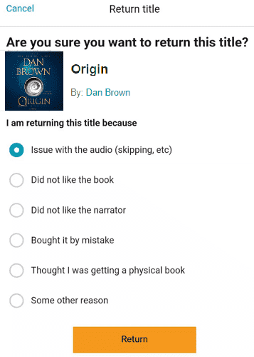How to Return Audible Books on Mobile & Desktop