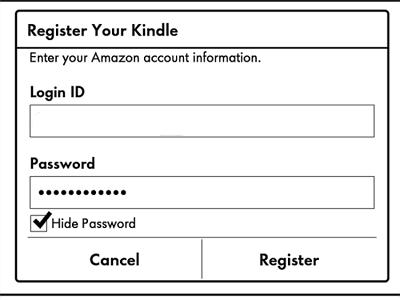register your kindle