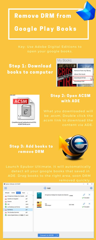 remove acsm drm calibre