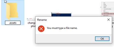 fail to rename folder