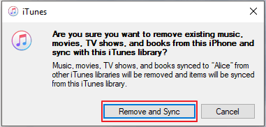 replace songs on iphone with itune library