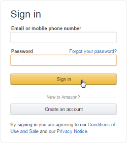 sign in amazon