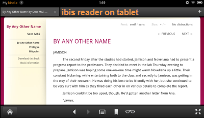 sync kindle-ibis tablet reading