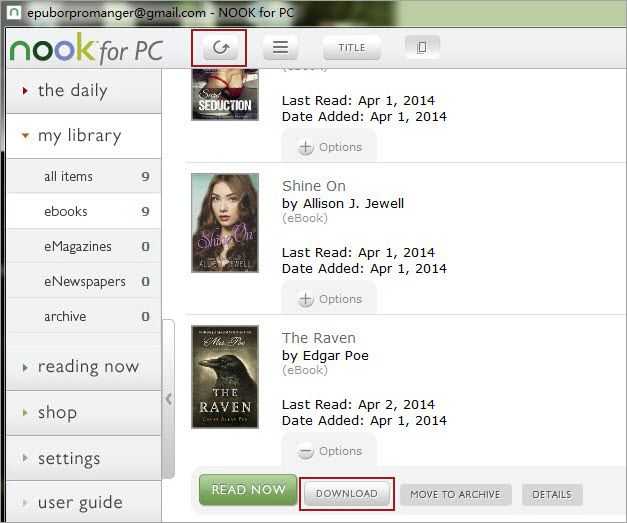 nook books to pc download