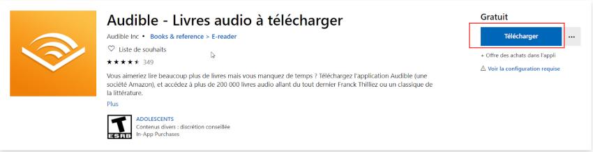 télécharger audible app gratuit