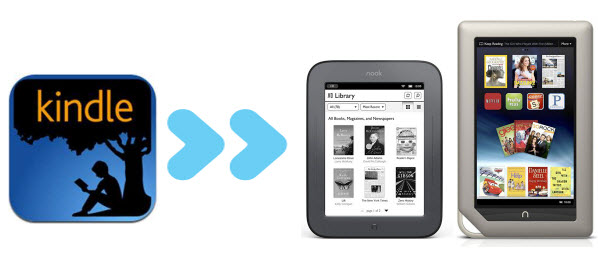 transfer Kindle books to Nook