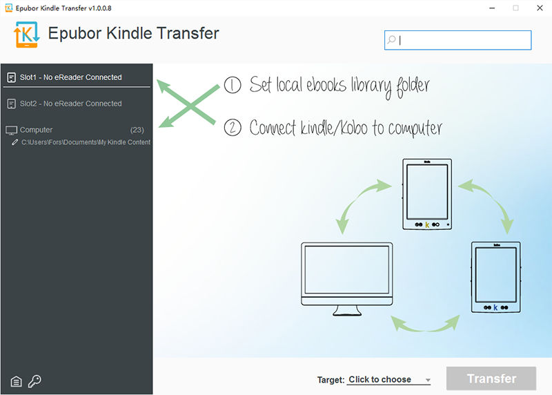 transfer books to kindle via Kindle Transfer