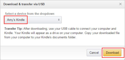 download KFX file from amazon website