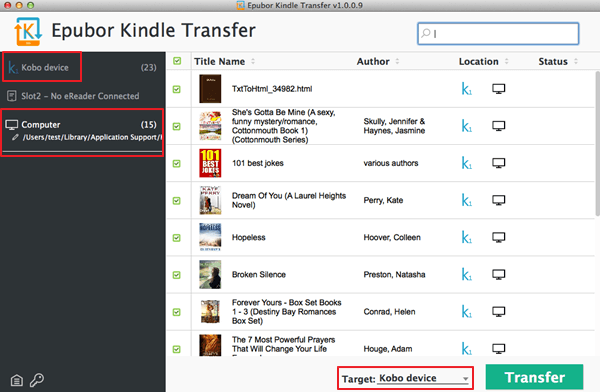transfer kindle books to kobo