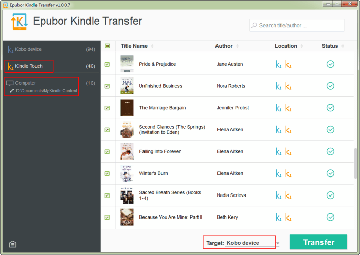 how to transfer a kindle book to pdf