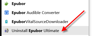 uninstall epubor ultimate