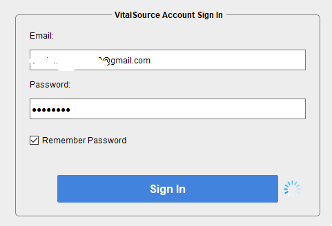 log in vitalsource account